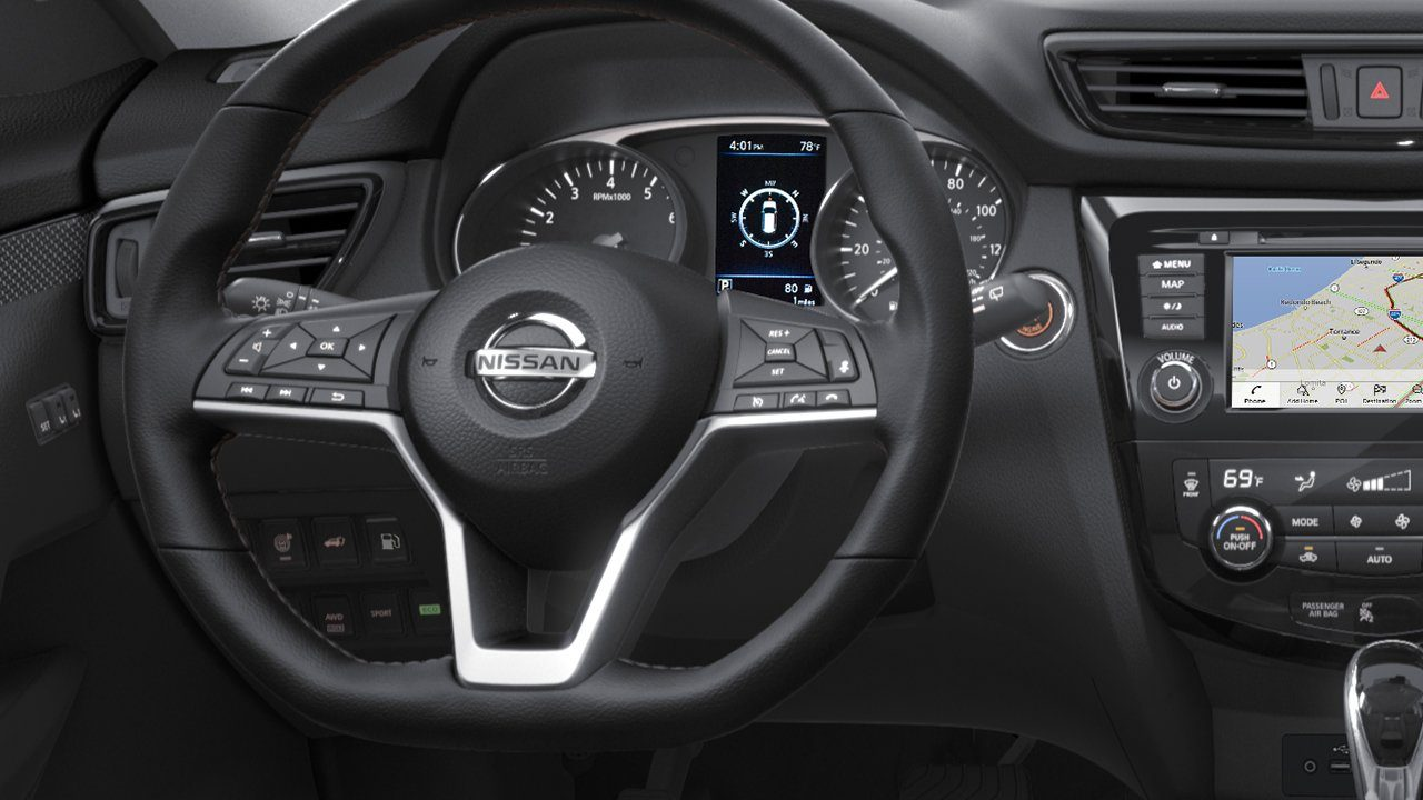 Heated Leather-Wrapped Steering Wheel